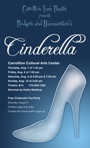 Cinderella play poster - Lisa Matheson - Black Squirrel Art Company